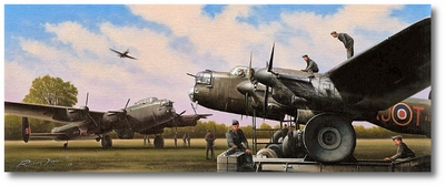 Bombing Up Tommy by Richard Taylor (Lancaster)