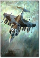 Breathe Easier by Keith Ferris (AV-8B Harrier)