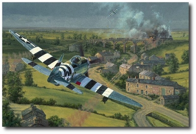 Bridge Busters by Anthony Saunders (P-47 Thunderbolt)