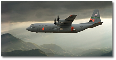 C-130 Hercules by Larry McManus