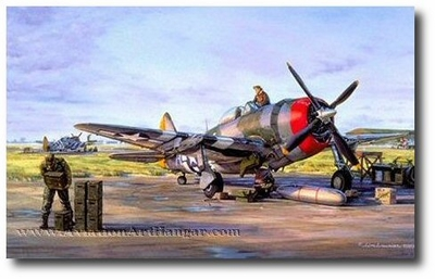Calm Before the Storm by Jim Laurier (P-47)