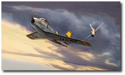 Check Six! by Jack Fellows (F-86 Sabre & MiG-15 Fagot)