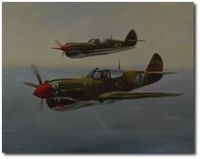 China Patrol Flying Tigers by Robert D. Fiacco (P-40 Warhawk)