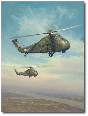 Choctaw Afternoon by William S. Phillips (Sikorsky UH-34)
