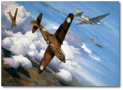 Christmas Over Rangoon by Roy Grinnell (P-40)