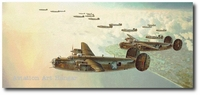 Circus Outbound by Keith Ferris (B-24 Liberator)