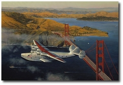 Clipper at the Gate by William S. Phillips (Boeing 314)