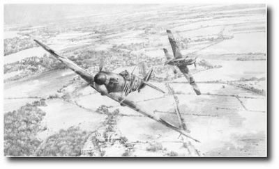 Close Call by Robert Taylor (Spitfire)