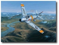 Combat Over Korea by Philip West (F-86)