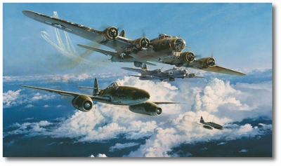 Combat Over the Reich by Robert Taylor (B-17, Me262)