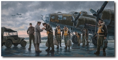 """Coming Home, England 1943"" by Gil Cohen (B-17)"