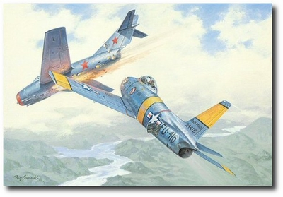 Crazy MiG by Roy Grinnell (F-86 Sabre, MiG-15)