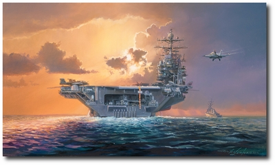 Dawn Operations, Abraham Lincoln Style by Rick Herter (EA-6B, F-18)