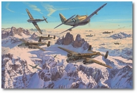 Deadly Pass by Anthony Saunders (P-47, B-25)