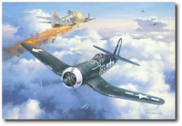 Dean's Tight Spot by Roy Grinnell (F4U Corsair)