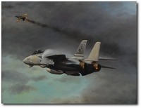 Downing of a Flogger by Robert D. Fiacco (F-14 Tomcat)