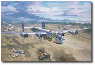 Dragon on the Deck by Roy Grinnell (B-24 Liberator)