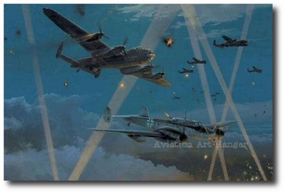 Duel in the Dark by Robert Taylor (Lancaster & Me110)