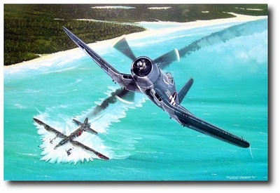 Duel Over New Georgia by Marc Stewart (F4U)