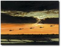 Eagle Flight by K. Price Randel (UH-1 Huey)