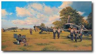 Eagles on the Channel Front by Robert Taylor (Me 109)