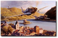 Eagles Over the Rhine by Robert Taylor (P-51 Mustang)