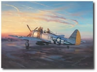 Early Morning Mission by Roy Grinnell (P-47 Thunderbolt)