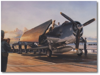 Early Riser by Jim Laurier (F6F Hellcat)