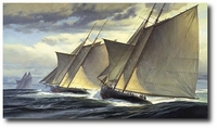 End of Day One - The Great Transatlantic Race, 1866 by Don Demers