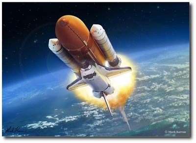 Endeavor Flight by Mark Karvon (Space Shuttle)