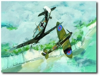 Eyeball to Eyeball by K. Price Randel (Bf109 and Spitfire)