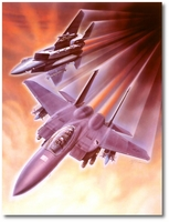 F-15 Eagle by Cliff Kearns (Original)