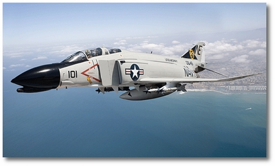 F-4 Phantom (US Navy) by Larry McManus