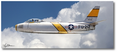 F-86 Sabre by Larry McManus