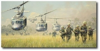 First Boots on the Ground by William S. Phillips (UH-1 Huey)