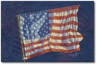 First Flag by Alan Bean (Apollo XI)