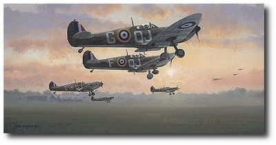 First Light - Battle of Britain July 1940 by Philip West (Spitfire)