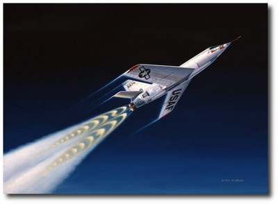 First of the Spacemen by Mike Machat (Bell X-2 Rocketplane)