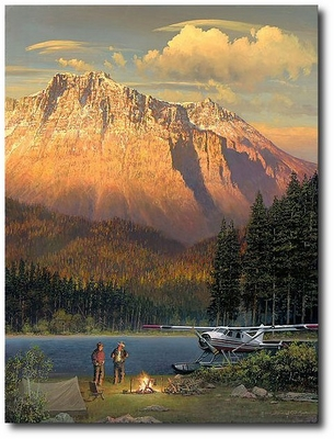 Fish Tales at Beaver Camp by William S. Phillips (DHC-2 de Havilland Beaver)