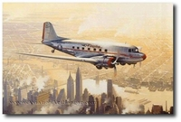 Flagship Over Manhattan by Robert Watts (DC-3)