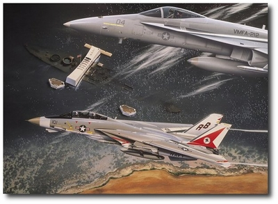 Flying Cover by Thierry Thompson (F-14 Tomcat & F-18 Hornet)