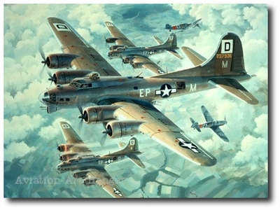 Fortresses Engaged by Keith Ferris (B-17)