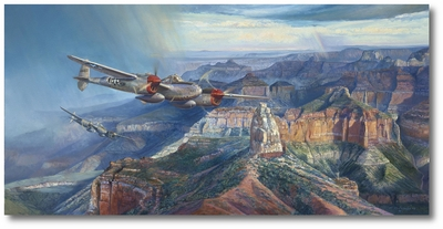 Grand Canyon Lightning by Rick Herter (P-38)