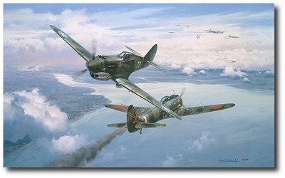 Greetings from the AVG by Roy Grinnell (P-40 Warhawk)