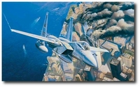 Ground Zero, Eagles on Station - 9-11-2001 by Rick Herter (F-15)
