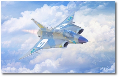 Guardian Dragon by Mark Karvon (Saab J-35 Drakken)