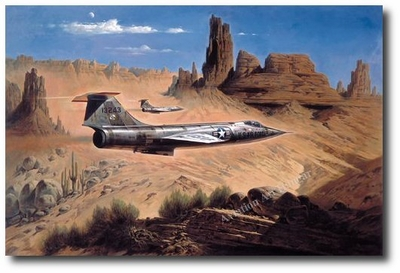 Gunfighters of the New West by Heinz Krebs (F-104 Starfighter)