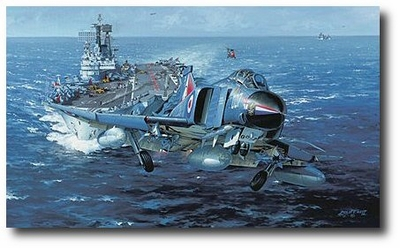 H.M.S. Ark Royal by Philip West (F-4 Phantom)