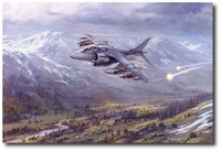 Harrier Patrol Over Bosnia by Ronald Wong