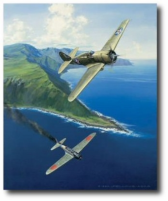Hawk of Haleiwa, December 7, 1941 by Jack Fellows (P-36)